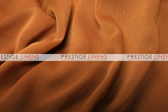 Two Tone Chiffon Draping - Cinnamon