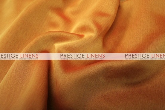 Two Tone Chiffon Draping - Dk Orange