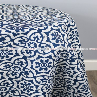 POLY PRINT ATHENS TABLE LINEN - ZAFFRE