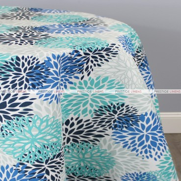 POLY PRINT BLOSSOM TABLE LINEN - BLUEVISTA