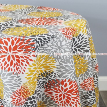 POLY PRINT BLOSSOM TABLE LINEN - CITRUS