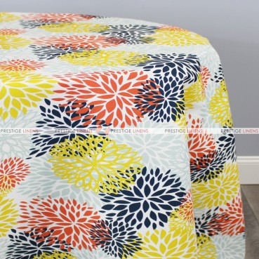 POLY PRINT BLOSSOM TABLE LINEN - PERLA