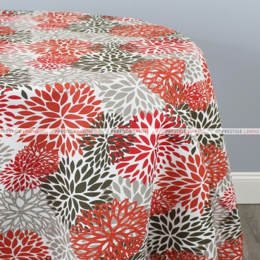 POLY PRINT BLOSSOM TABLE LINEN - SALMON