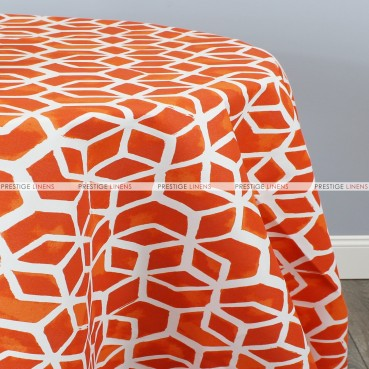 POLY PRINT CELTIC TABLE LINEN - MARMALADE