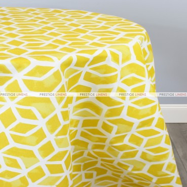 POLY PRINT CELTIC TABLE LINEN - PINEAPPLE