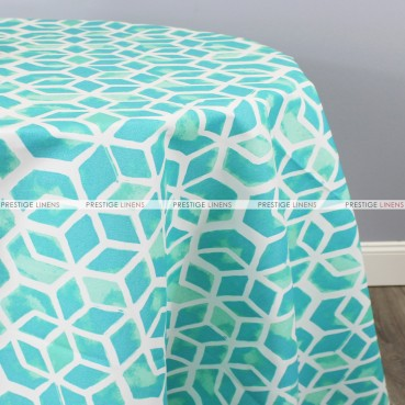 POLY PRINT CELTIC TABLE LINEN - SURFSIDE