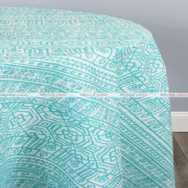 POLY PRINT DEVADA TABLE LINEN - OCEAN