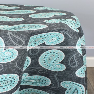 POLY PRINT PERU TABLE LINEN - OCEAN