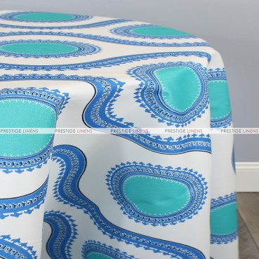 POLY PRINT SUSETTE TABLE LINEN - COBALT