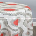 POLY PRINT SUSETTE TABLE LINEN - INDIAN CORAL