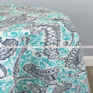 POLY PRINT SHANNON TABLE LINEN - OXFORD OCEAN