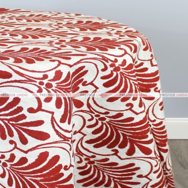 POLY PRINT ECUADOR TABLE LINEN - SANGRIA