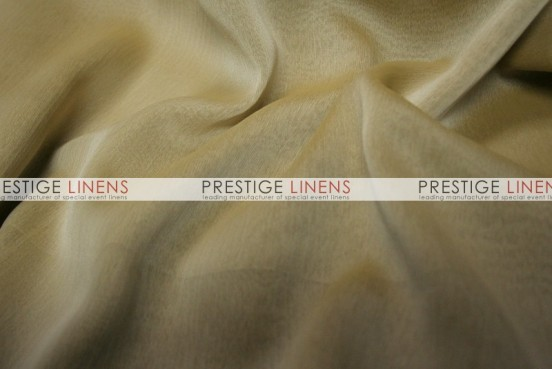 Two Tone Chiffon Draping - Lt Khaki