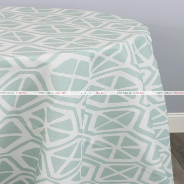 POLY PRINT AIDEN TABLE LINEN - BLUESTONE