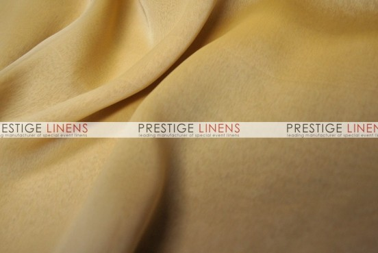 Two Tone Chiffon Draping - Mustard/White