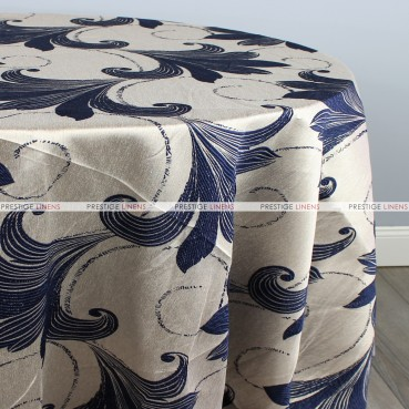 LILY JACQUARD TABLE LINEN - INDIGO