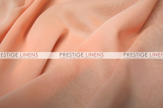 Two Tone Chiffon Draping - Peach