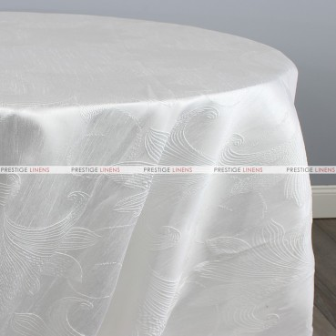 LILY JACQUARD TABLE LINEN - WHITE