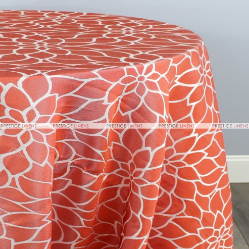 DAISY JACQUARD TABLE LINEN - ORANGE
