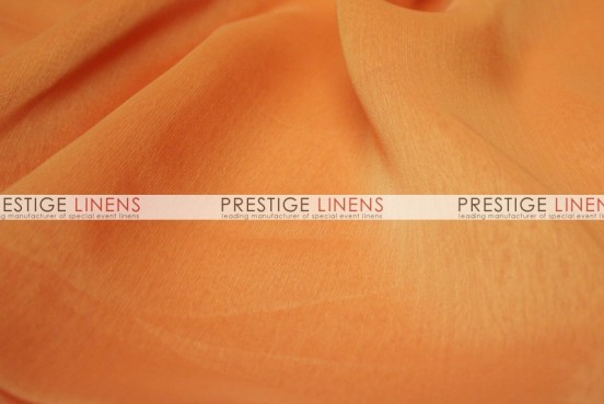 Two Tone Chiffon Draping - Pumpkin