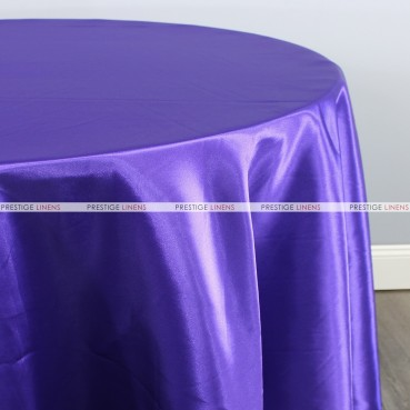 Bridal Satin Table Linen - 1032 Purple