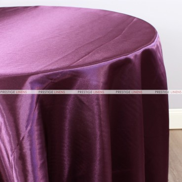Bridal Satin Table Linen - 1034 Plum