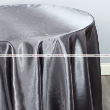 Bridal Satin Table Linen - 1139 Charcoal