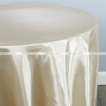 Bridal Satin Table Linen - 128 Ivory