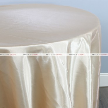 Bridal Satin Table Linen - 130 Champagne