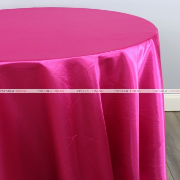 Bridal Satin Table Linen - 528 Hot Pink