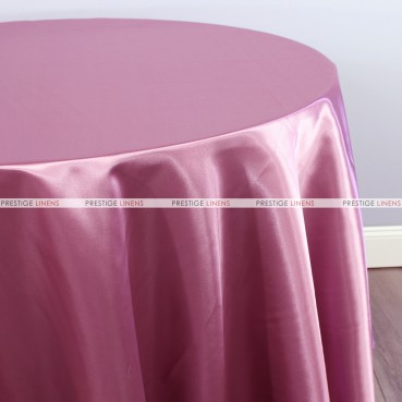 Bridal Satin Table Linen - 531 Dk Rose
