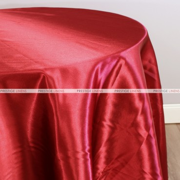 Bridal Satin Table Linen - 626 Red