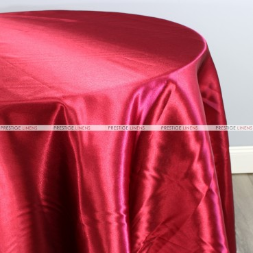 Bridal Satin Table Linen - 627 Cranberry