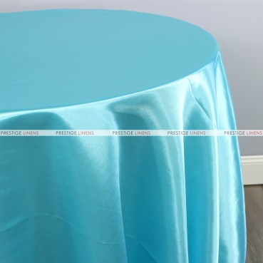 Bridal Satin Table Linen - 951 Tiffani Blue