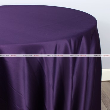 Lamour Matte Satin Table Linen - 1033 Lt Plum