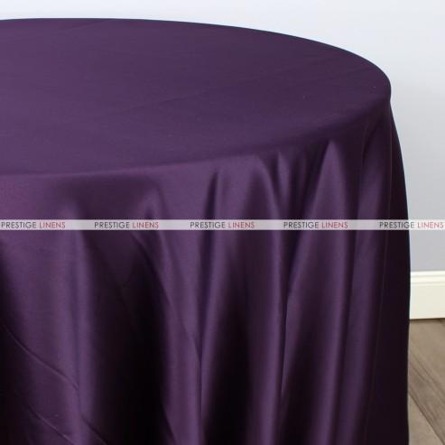 Lamour Matte Satin Table Linen 1034 Plum Prestige Linens