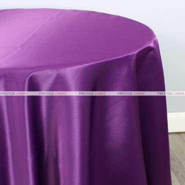 Lamour Matte Satin Table Linen - 1044 Eggplant