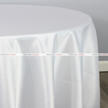 Lamour Matte Satin Table Linen - 126 White