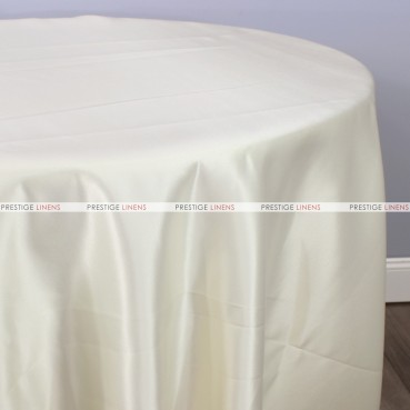 Lamour Matte Satin Table Linen - 128 Ivory