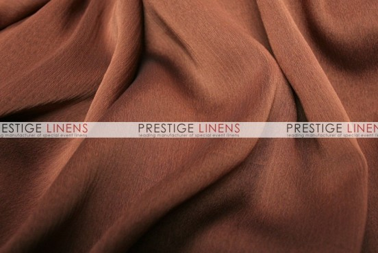 Two Tone Chiffon Draping - Rust