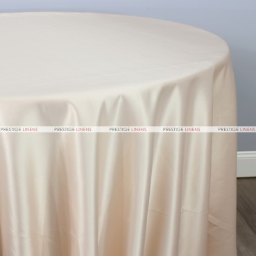 Lamour Matte Satin Table Linen - 130 Champagne