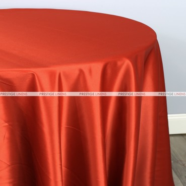 Lamour Matte Satin Table Linen - 337 Rust