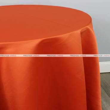 Lamour Matte Satin Table Linen - 447 Dk Orange