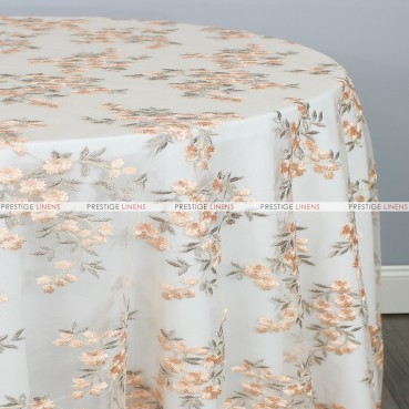 CHARMING TABLE LINEN - PEACH/GOLD