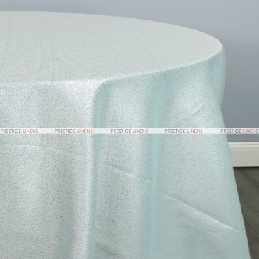 BRILLIANCE JACQUARD TABLE LINEN - AQUA/SILVER