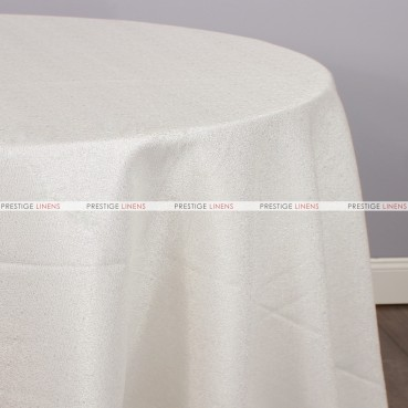BRILLIANCE JACQUARD TABLE LINEN - CHAMPAGNE/SILVER