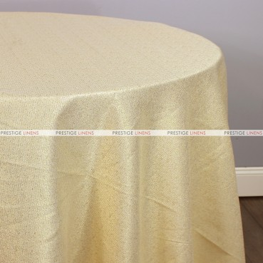 BRILLIANCE JACQUARD TABLE LINEN - GOLD/GOLD