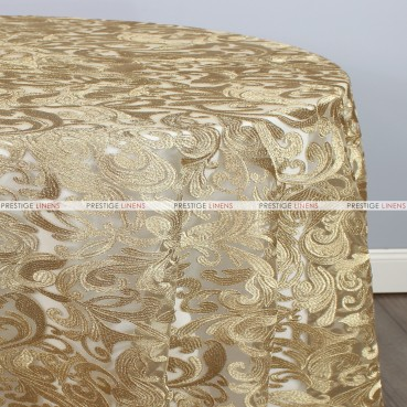 TINSEL TABLE LINEN - CHAMPAGNE