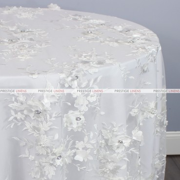 JEMSTONE TABLE LINEN - WHITE