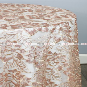 ENCHANTED SEQUINS TABLE LINEN - CHAMPAGNE